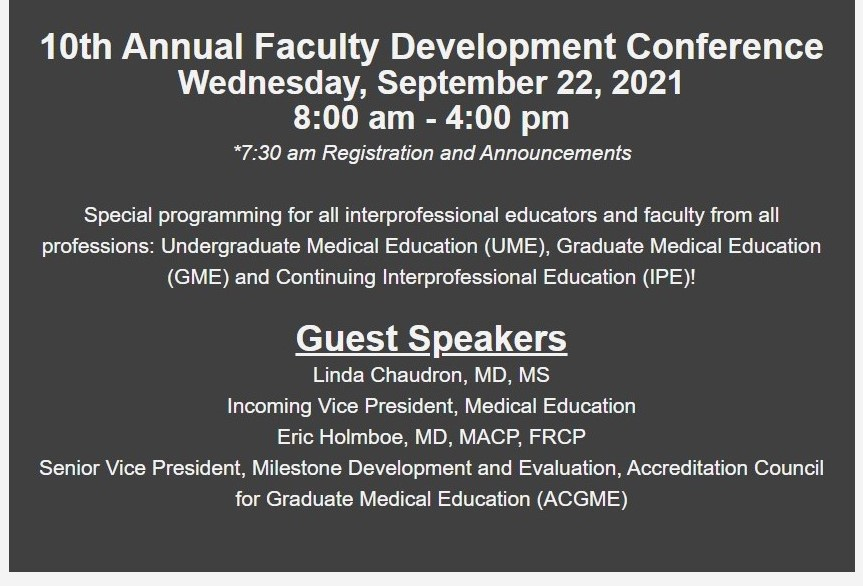 10th Annual Faculty Development Conference Banner